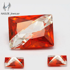 Shining high quality fake jewelry cz color mixed gemstone