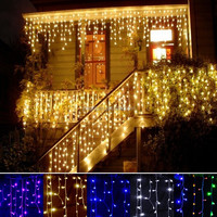 24v 10m 100l Led Falling Icicle Lights Window Led Icicle Lights ...