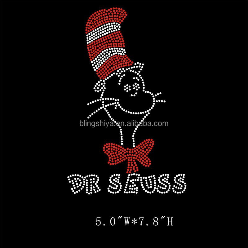 Popular Lovely Cartoon Rhinestone Dr.Seuss Transfers For Kids' Cloth
