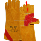 Workplace safety supplies quality Cowhide Leather BBQ Gloves