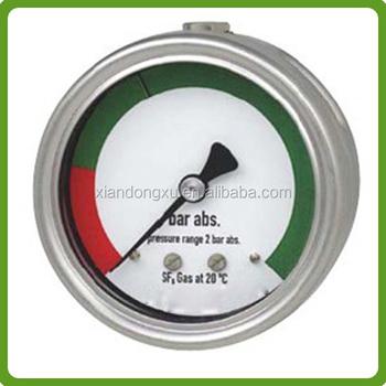Hot Sale China Supplier Sf6 Pressure Gauge,Sulfur Hexafluoride ...