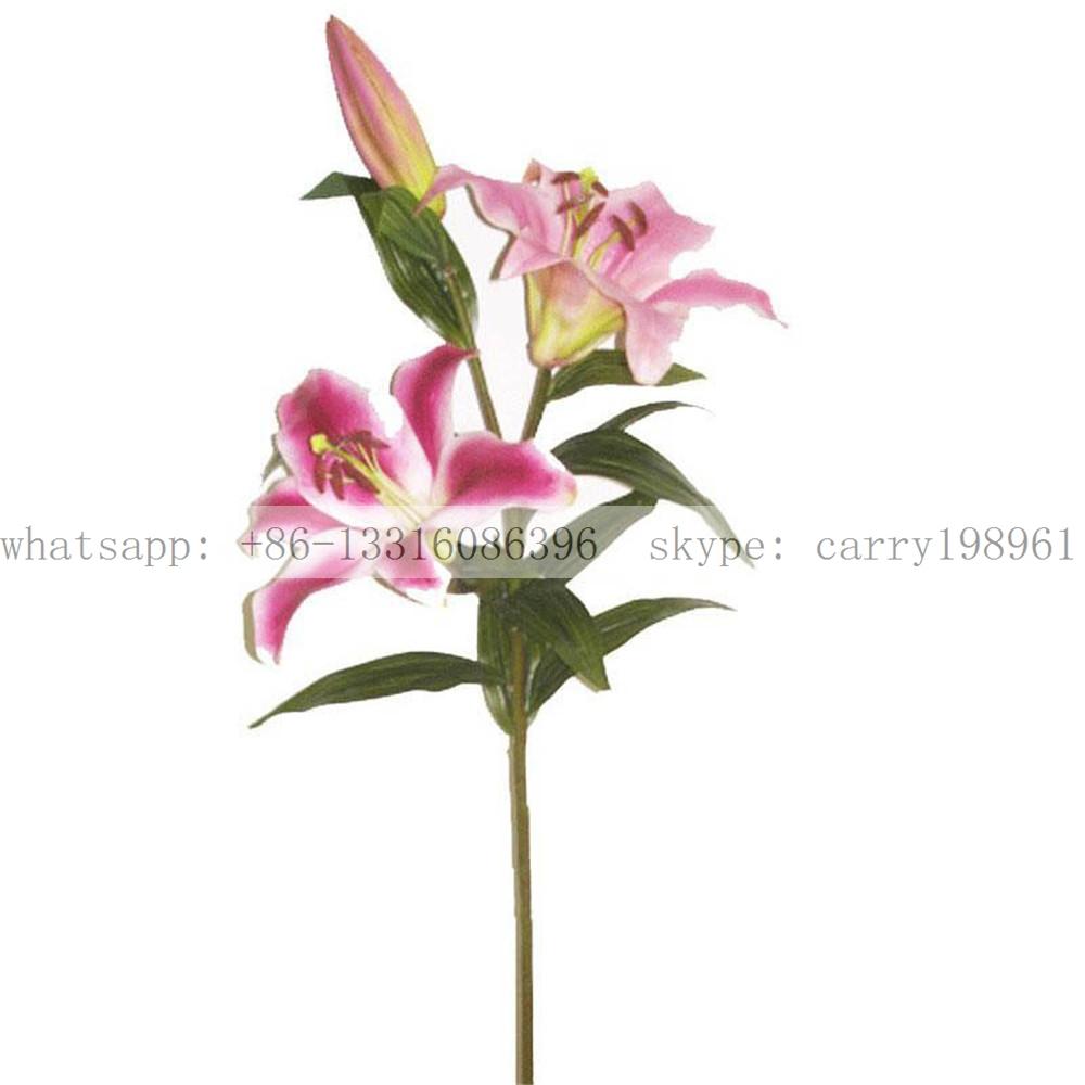 Sj1012017 Plastic Silk Lily Flowers Wedding Decoration Flower Buy