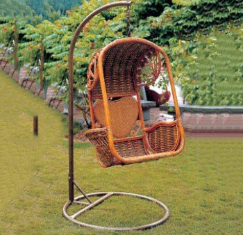 Top Selling Wrought Iron Single Seat Swing Hanging Chair