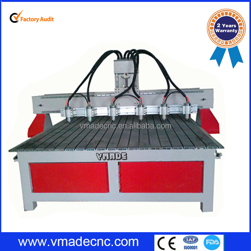 machine manufacturer/Multihead woodworking cnc router with 4 axis