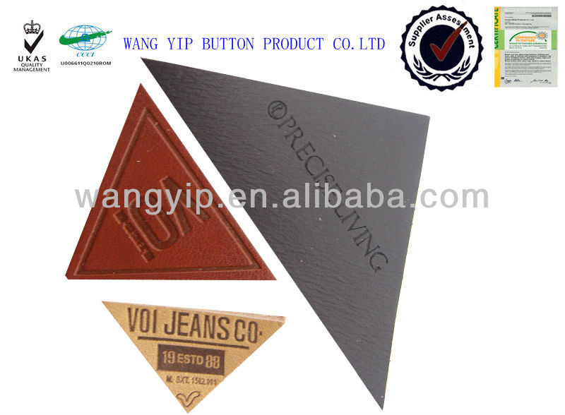 all kinds triangle leather patch for garment accessories