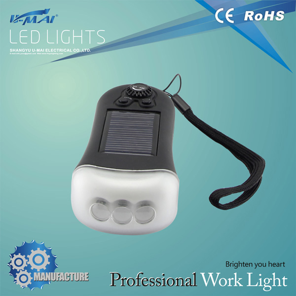 Hotest biult-in 3 led practical solarled energy saving lamp