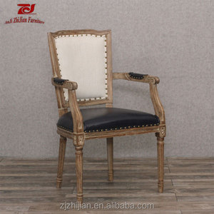 French Carved Dining Chair Armrest Dining Chair Replica Louis Ghost Arm Chair