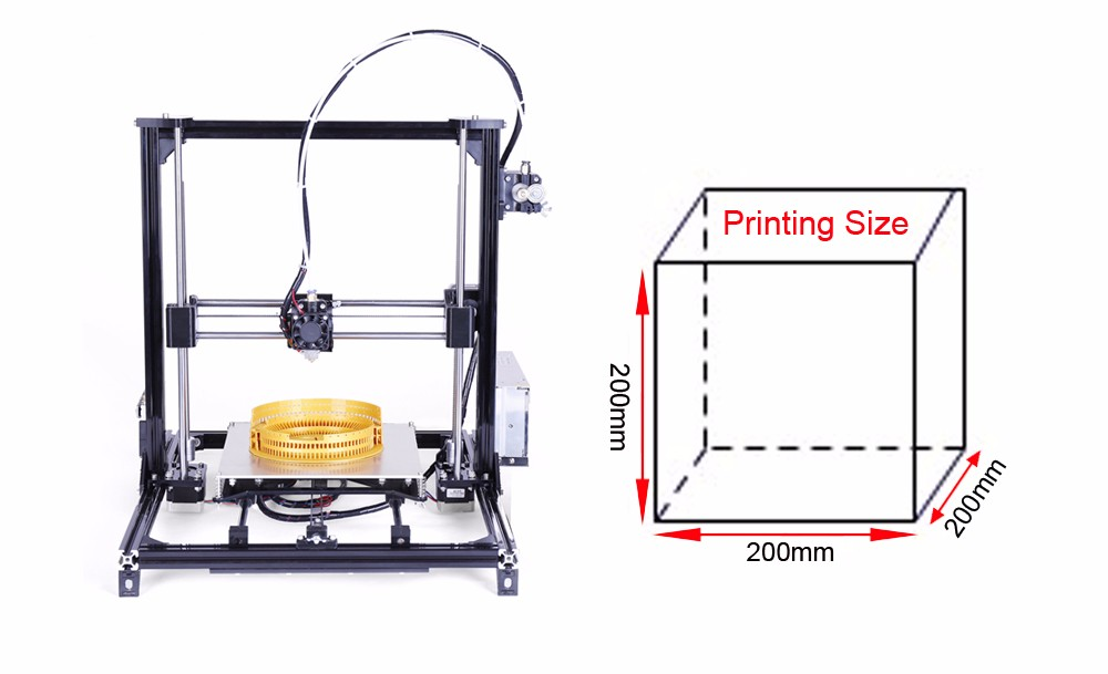 flsun upgrate prusa i3 3d printer kit full frame acrylic computer fan wiring colors
