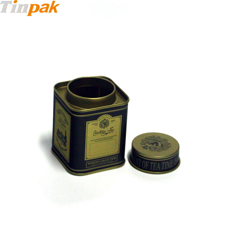 Food grade square 100ml tin cans for coffee