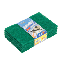 Heavy Duty Industrial Nylon Abrasive Cleaning Scouring Pad Household Green Polyester Dish Kitchen Scouring Pad