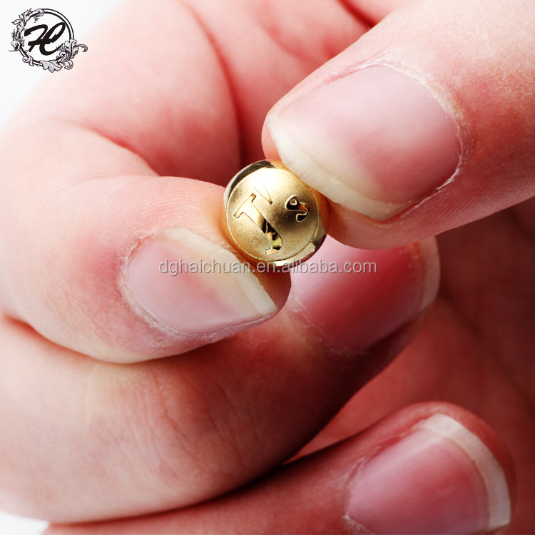 Wholesale stainless steel jewelry findings gold color 6mm stainless steel solid beads for jewelry making