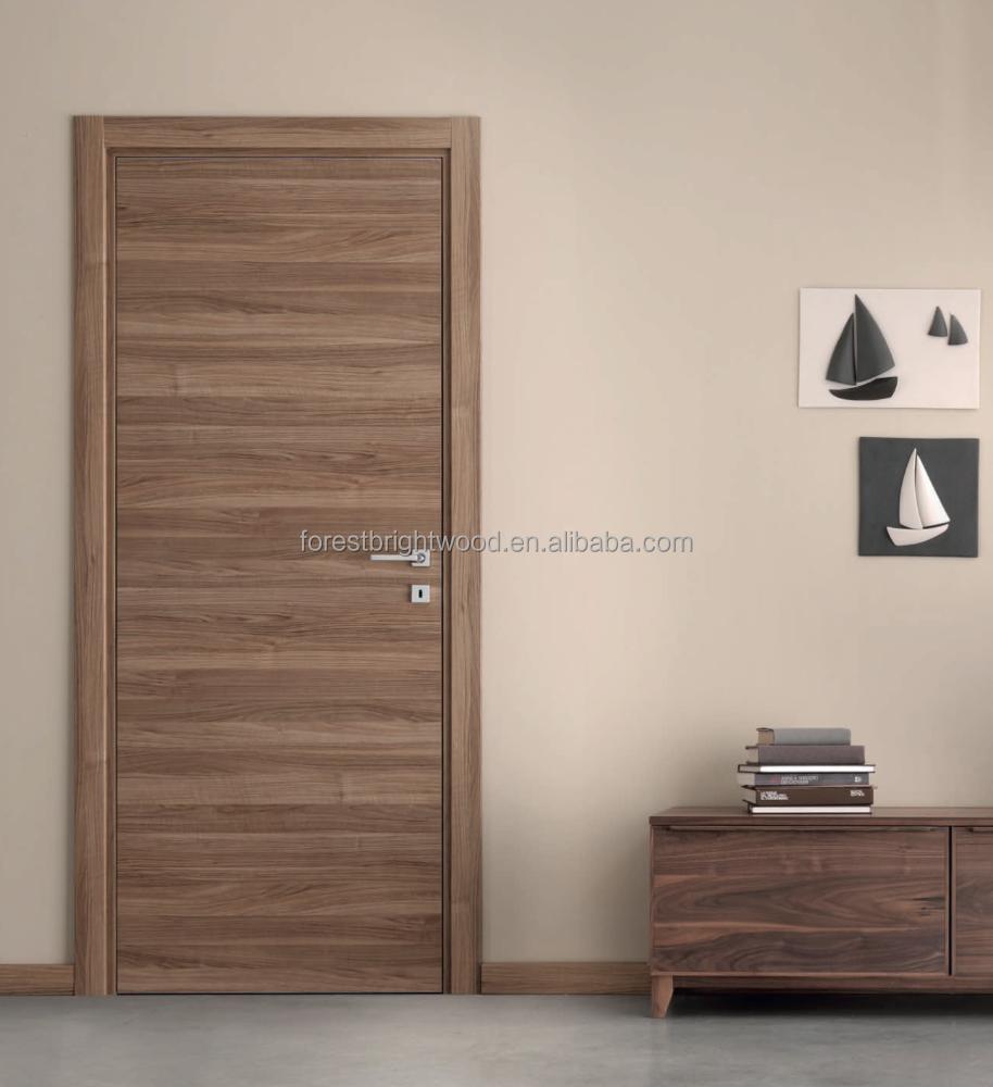 Interior folheado flush portas de madeira com dobradi as for Portas de apartamentos modernas
