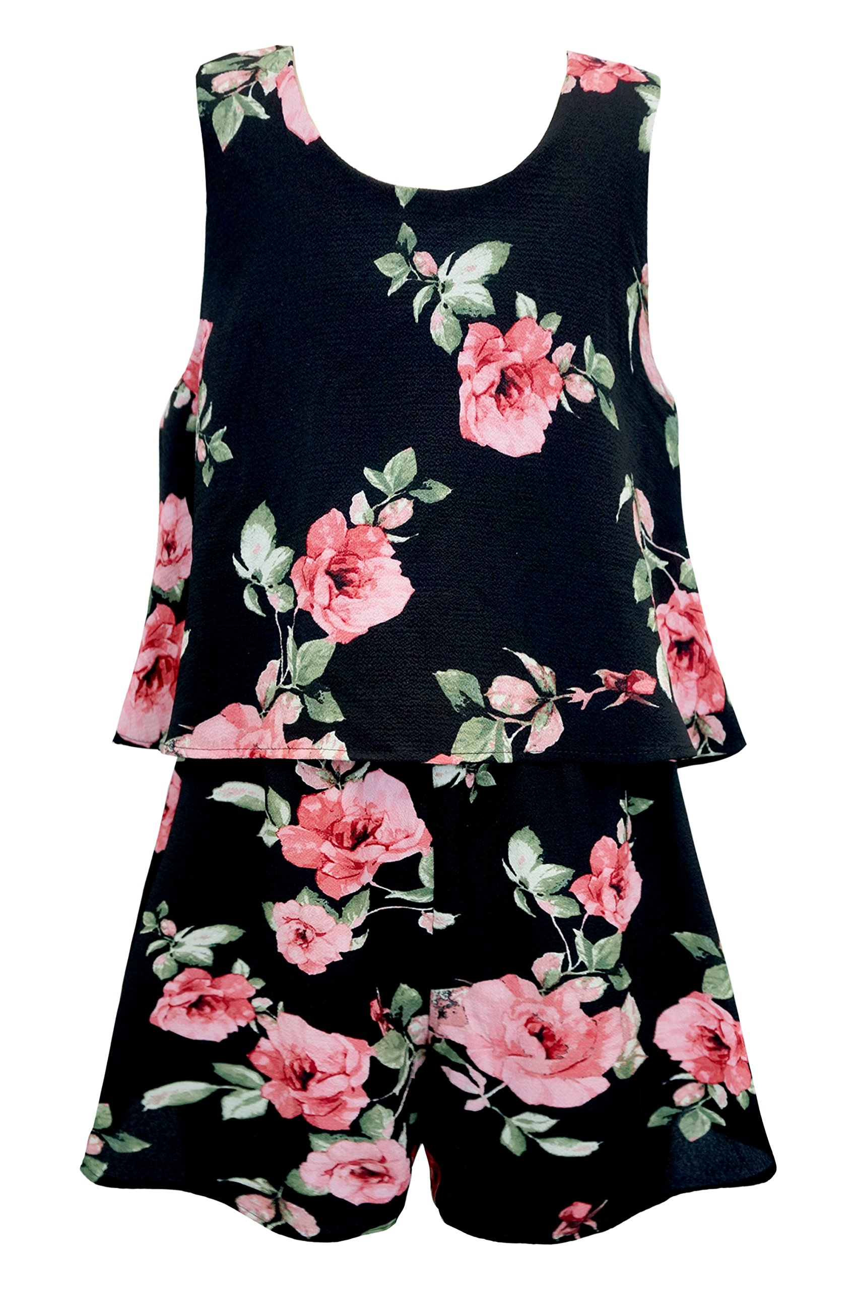 41dcabbe104 Get Quotations · Truly Me Big Girls Tween Sweet Floral Romper (Many  Options)