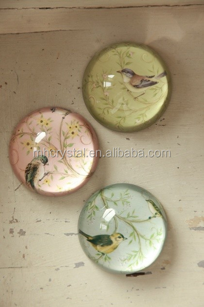 glass bird paperweights MH-F0470