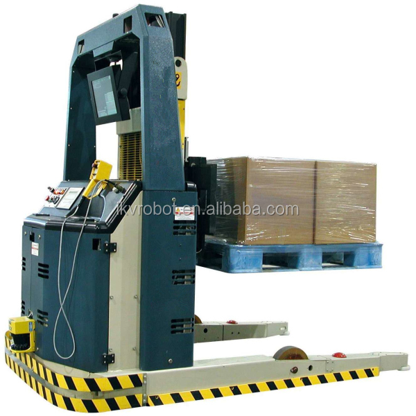 Gold supplier automated laser guided forklift agv unit loader for product pallet