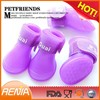 RENJIA pink dog shoes dog shoes for slippery floors silicone pet shoes