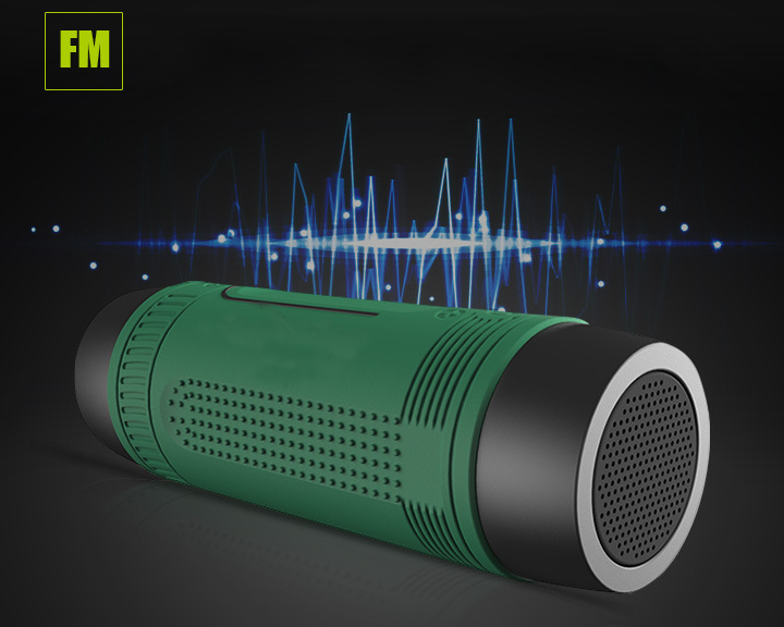 Discount Wireless Electric Torch Outdoor Waterproof Portable Bluetooth Speaker