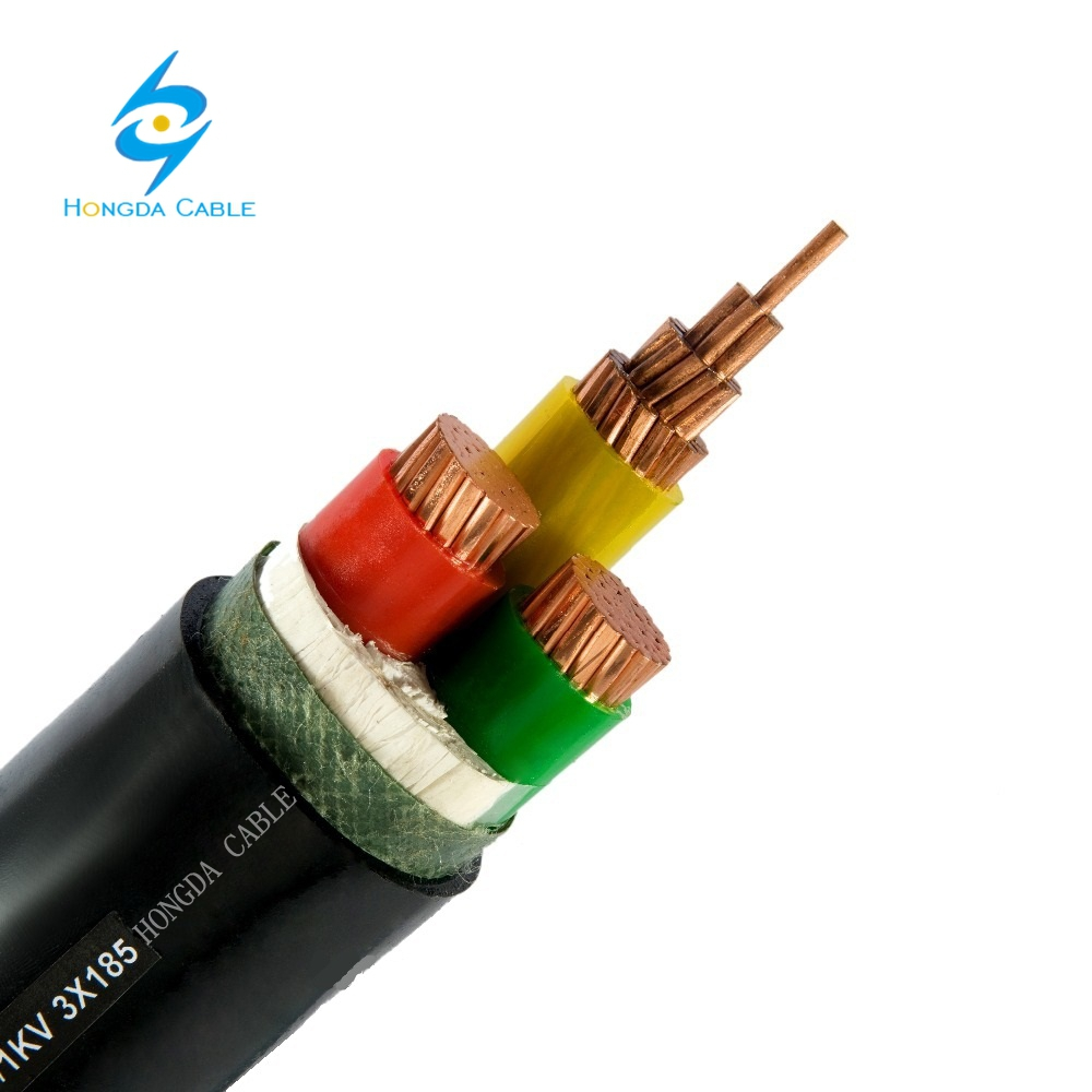 YJV32 / YJLV32 0.6/1KV XLPE insulated Thin Steel wire armored PVC sheathed 3+1 core power cable