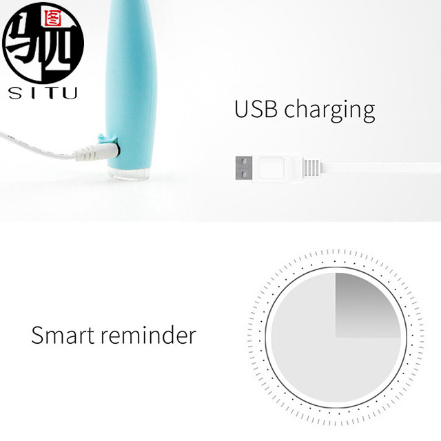 Silicone Sonic Electric Toothbrush Waterproof Deep Clean Teeth Whitening Electric Teeth Brush USB Rechargeable