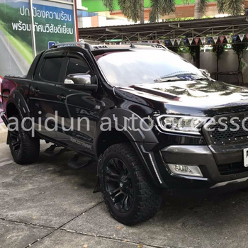 LED matte black Bushwacker Fender Flare for ford ranger wildtrak 2017