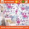 low price natural beautiful flower wallpaper pvc waterproof wallpaper