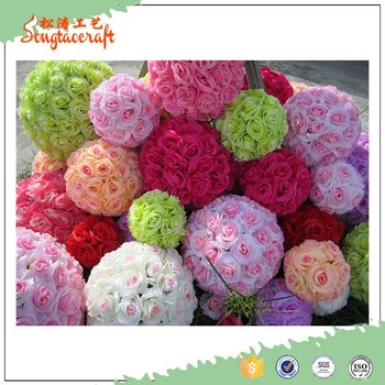 New style 20cm real touch silk cloth chinese rose flower ball new style 20cm real touch silk cloth chinese rose flower ball centerpiece wholesale mightylinksfo