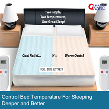 Dual Temp (Heats and Cools) Mattress Pad For Cooling Sleeping
