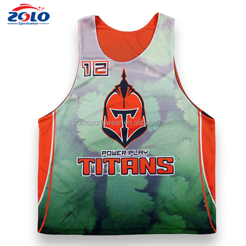 Top Quality Pro Sublilmated Custom-Made Lacrosse Pinnies