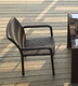 Popular Patio Waterproof Iron Rattan Chair Patio Outdoor Furniture Cafe Chair