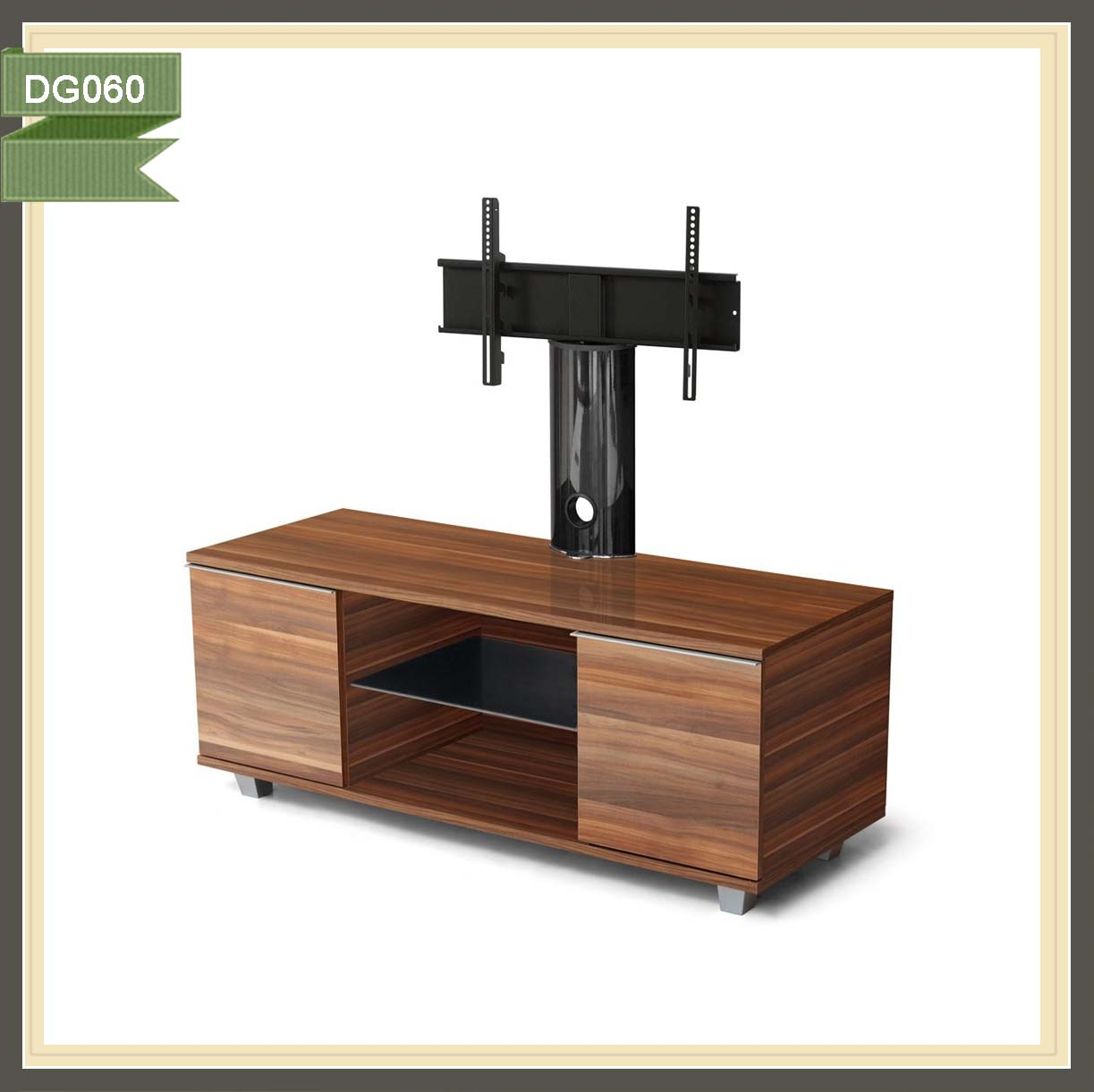 Rustic Wooden Panel Led Tv Stand With Mount