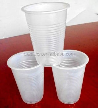 Wholesale Plastic Tea Cups And Saucers Bulk 7oz White Plastic Cups