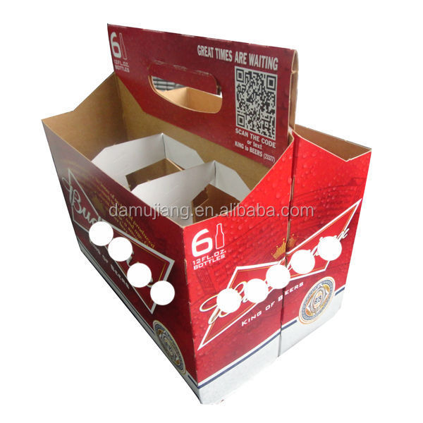 Guangzhou luxury 6 pack carrier beer box, beer holder, beer carrier