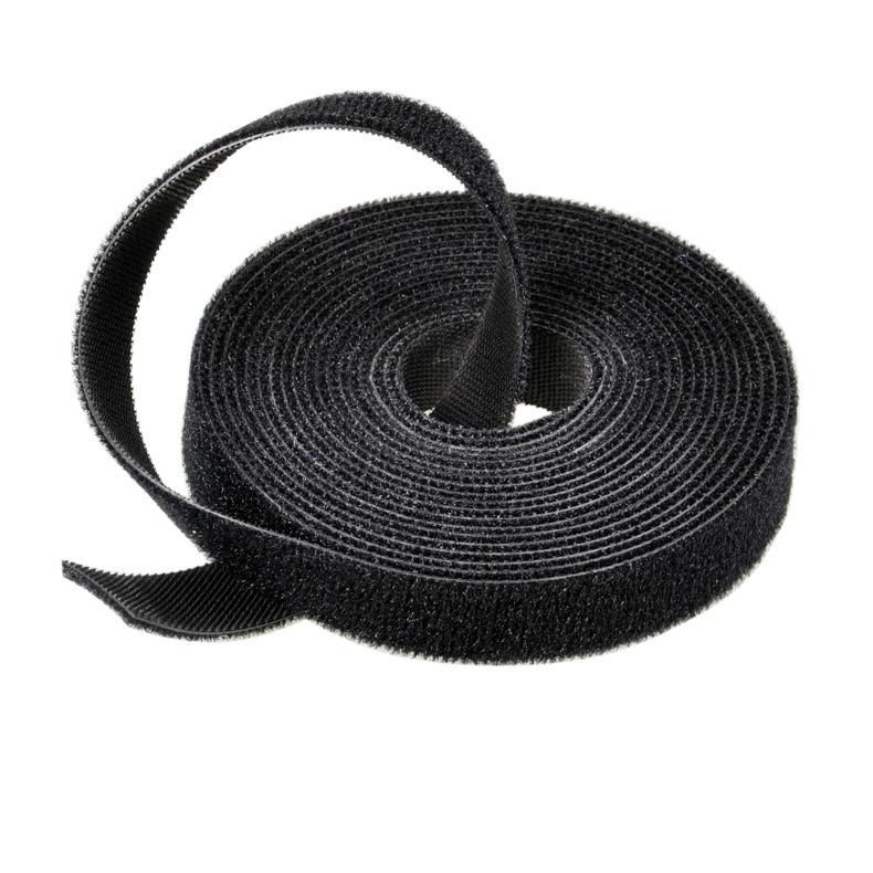 Organizador de cables de nylon reutilizable Lazos Correa Ajustable 15cm Cable de Bucle Gancho ordenado