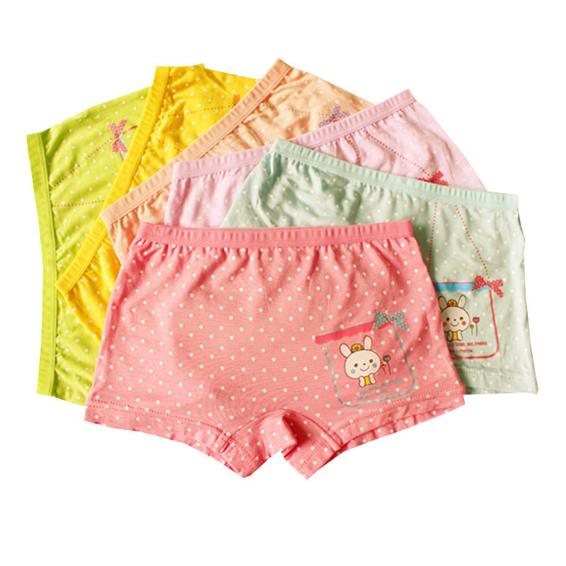 10PCS/LOT  Baby Girls' Briefs  Boxer Underwear Kids Cute Cartoon Rabbit Panties Children Soft Modal calcinhas infantis 0801