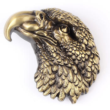 wholesale Custom eagle head 3D metal badges soft enamel lapel pin