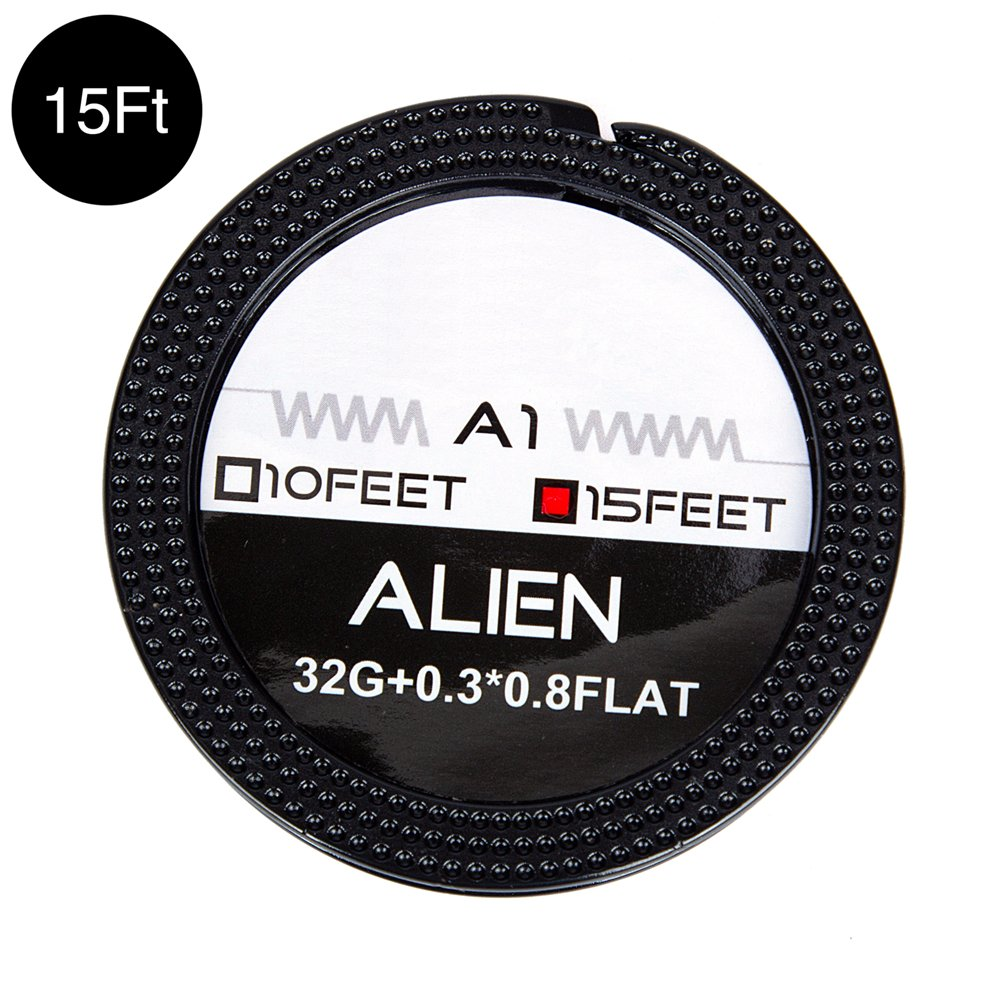 15 ft Alien Wire A1 Heat Resistant Wire Spool Braided Household Electrical Coil 0.3x0.8 Flat + 32GA