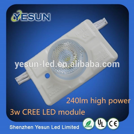 Bulit-in constant current DC 12V high power 3W Warranty 5 years 3pcs a group led module