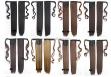 Factory Supply Wrap Around Snythetic Hair straight Ponytail
