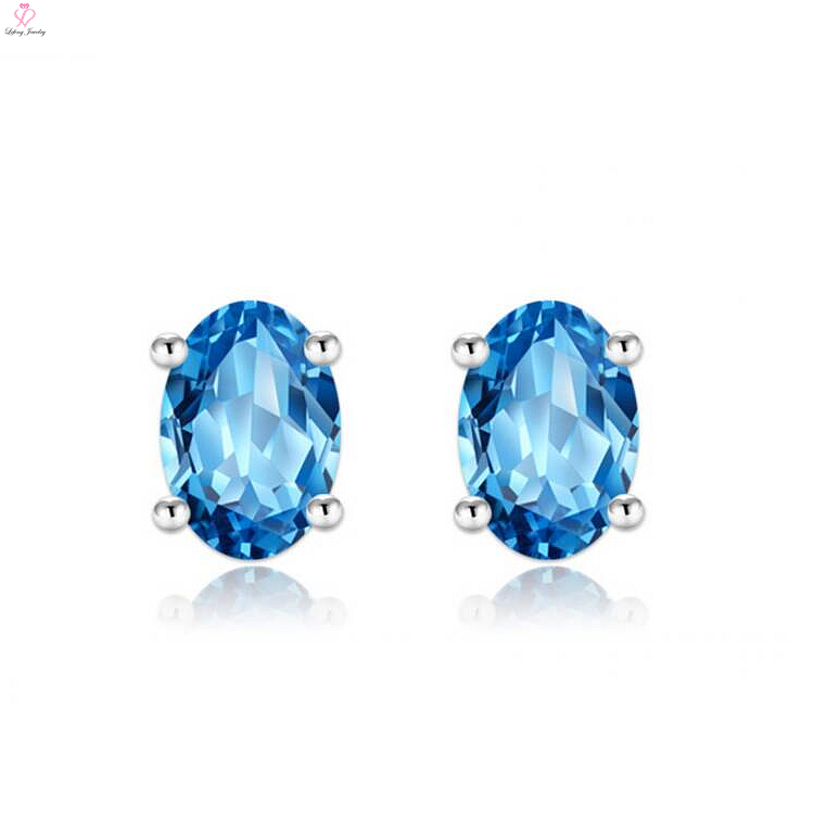 blue earrings priyoshop com in online shopping stone bangladesh