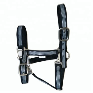 Leather Padded Horse Halter manufacturer with adjustable buckles