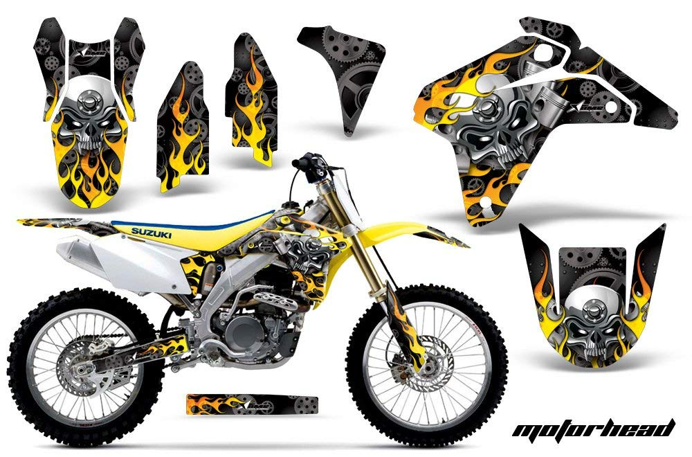 Tribal Flames-AMRRACING MX Graphics decal kit fits Yamaha PW50 All years-Red-Black