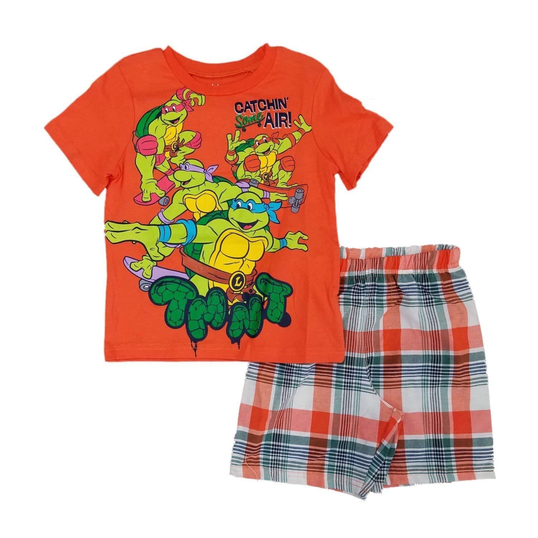Puppies Beep Honk T-Shirt /& Plaid Shorts Set, Nannette 2-pc 18 Months