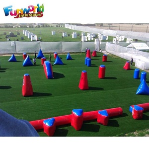 Cheap archery tag inflatable bunker paintball bunkers inflatable paintball field