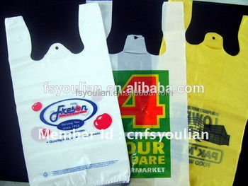 Plastic T Shirt Bags Packaging Top Quality