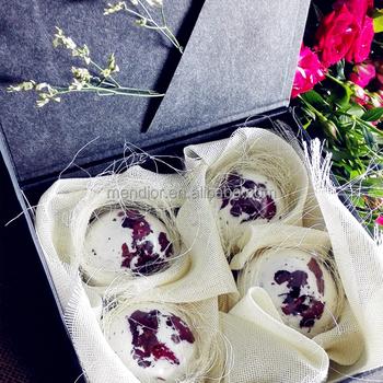 Luxury Rose Dry Flower Spa Bath Bomb Set Whitening