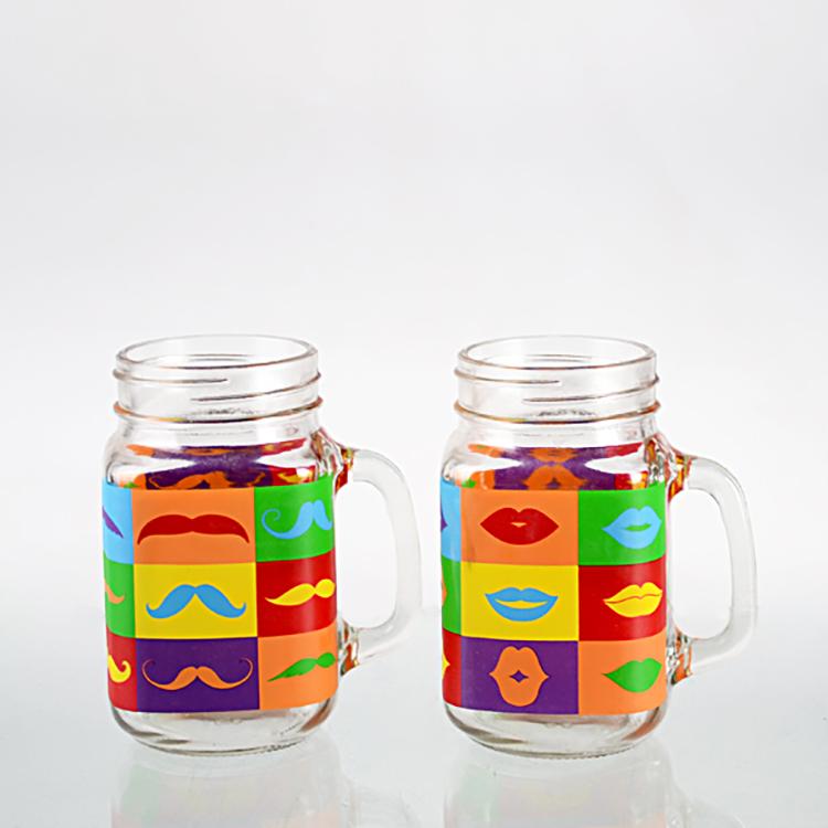 450ml country big glass mason jar for juice drinking
