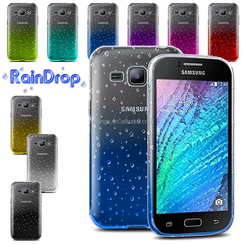 New Products Tpu Transparent Gradient Color 3d Waterdrop Ultra Slim Samsung Galaxy J2 Case For J200