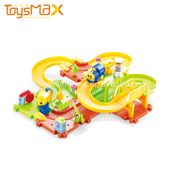 Toysmax Professional Toys Manufacturer Customized Colorful Musical Cartoon Plastic Electric Toy Train Sets