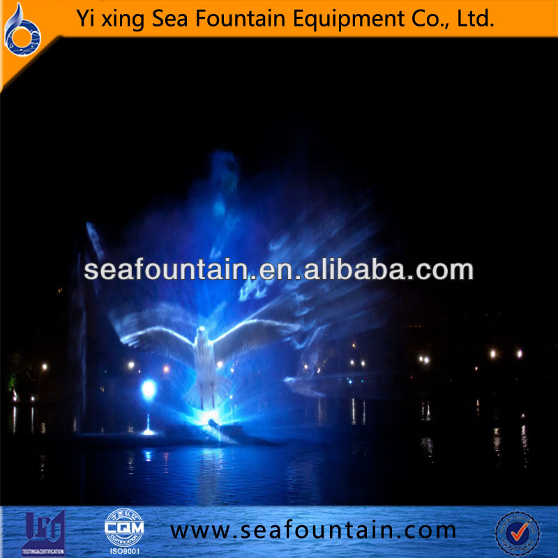 High shoot music dancing fountain with 3D interactive
