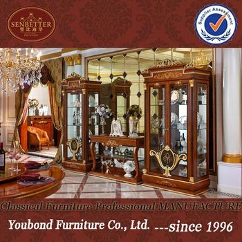 0038 Italian Living Room Showcase Furniture Design, Classic Wooden Wine  Cabinet